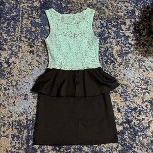 Black and aqua dress
